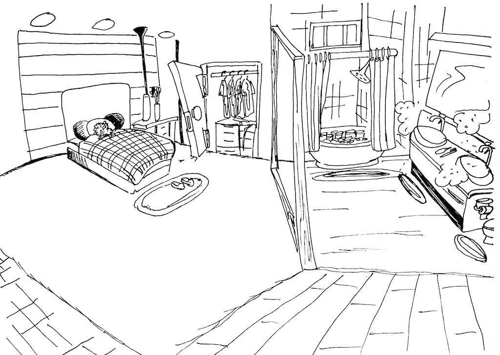 Gedächtnispalast Route in einer Wohnung